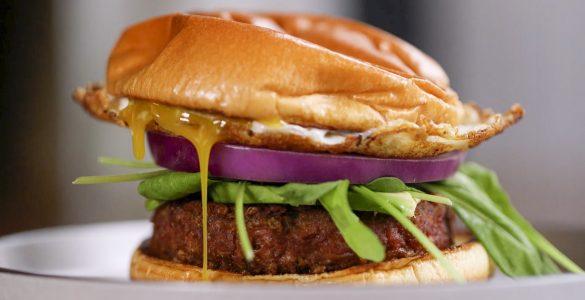 Veggie Burger with a Pop